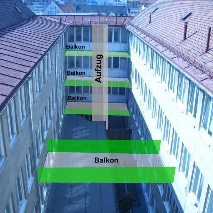 Konzept-Innenhof